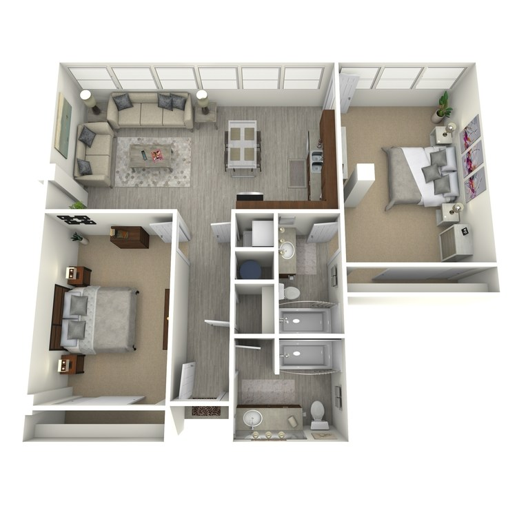 Floor plan image of Unit P