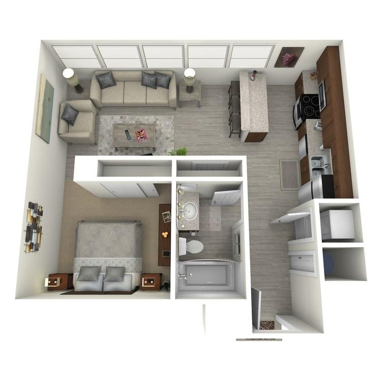 Floor plan image of Unit M