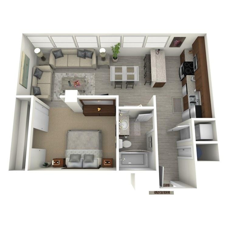 Floor plan image of Unit Q
