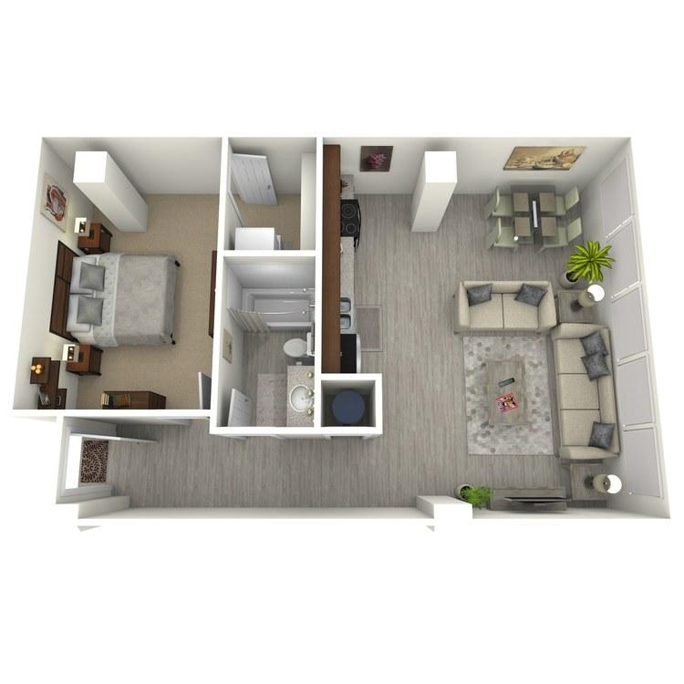 Floor plan image of Unit J