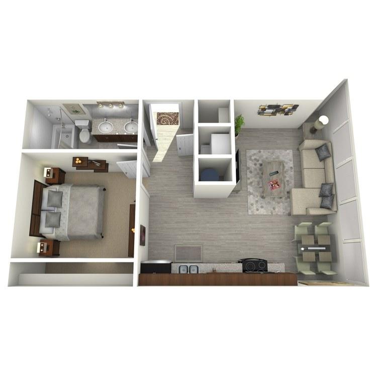 Floor plan image of Unit H