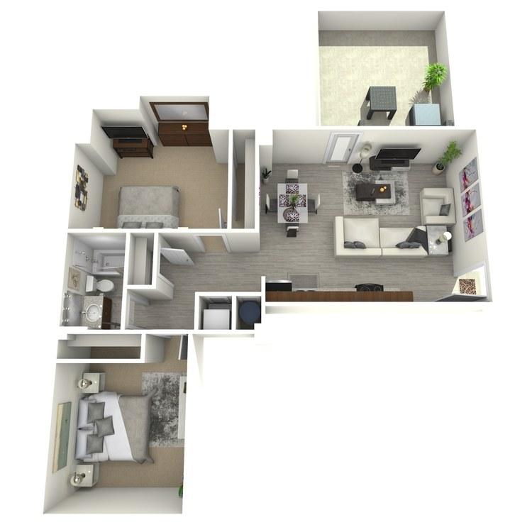 Floor plan image of Unit T