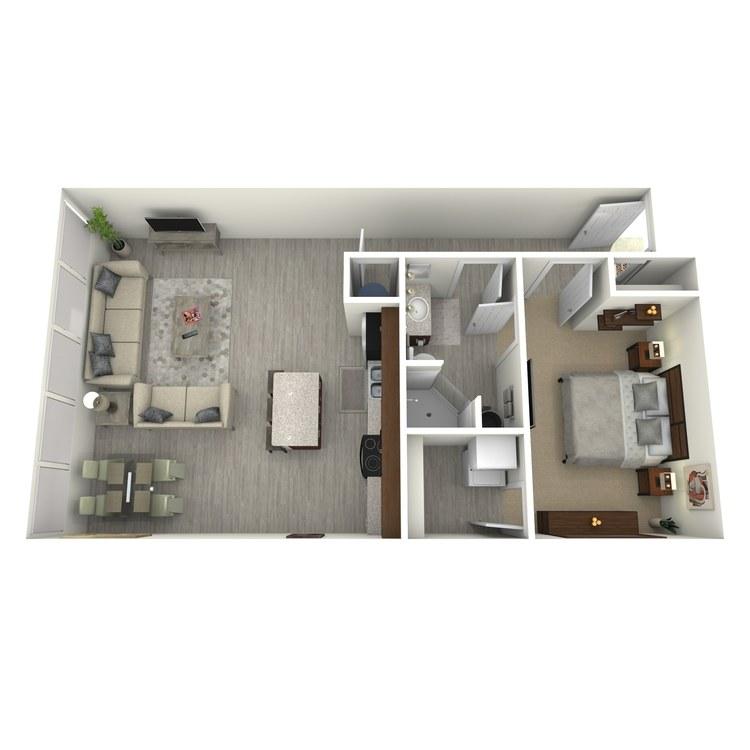 Floor plan image of Unit B