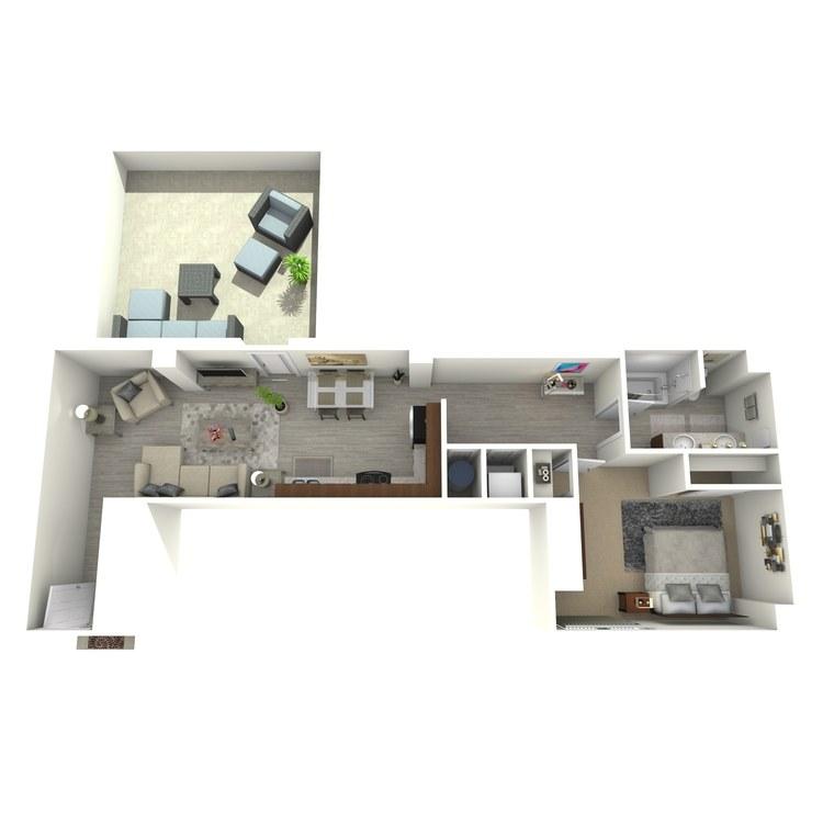 Floor plan image of Unit R