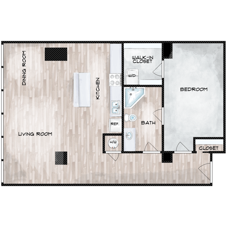 Floor plan image of Unit C