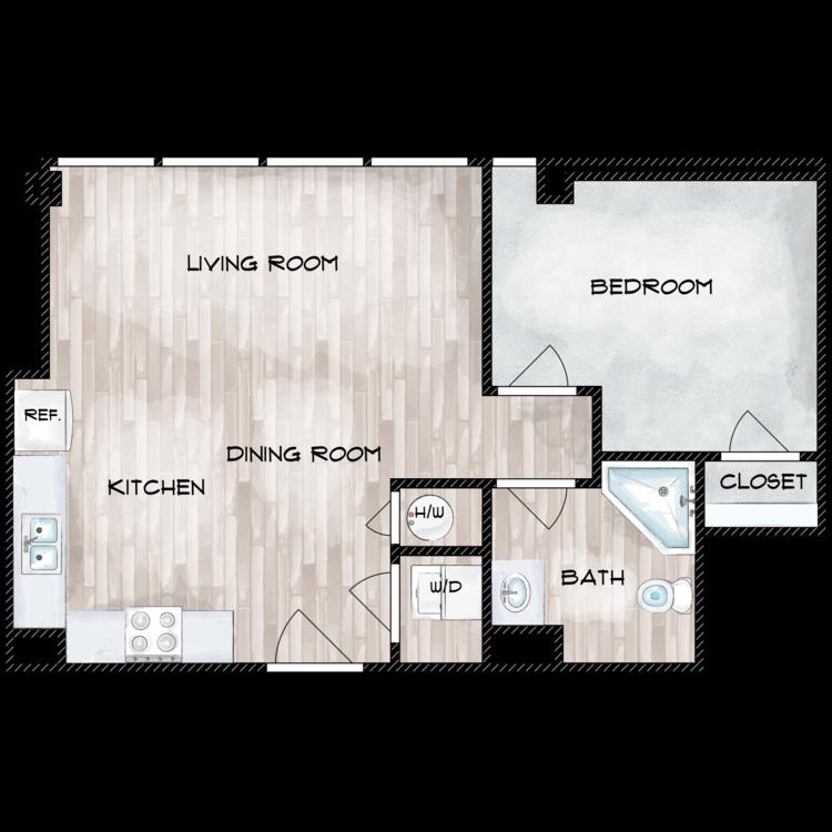 Floor plan image of Unit G