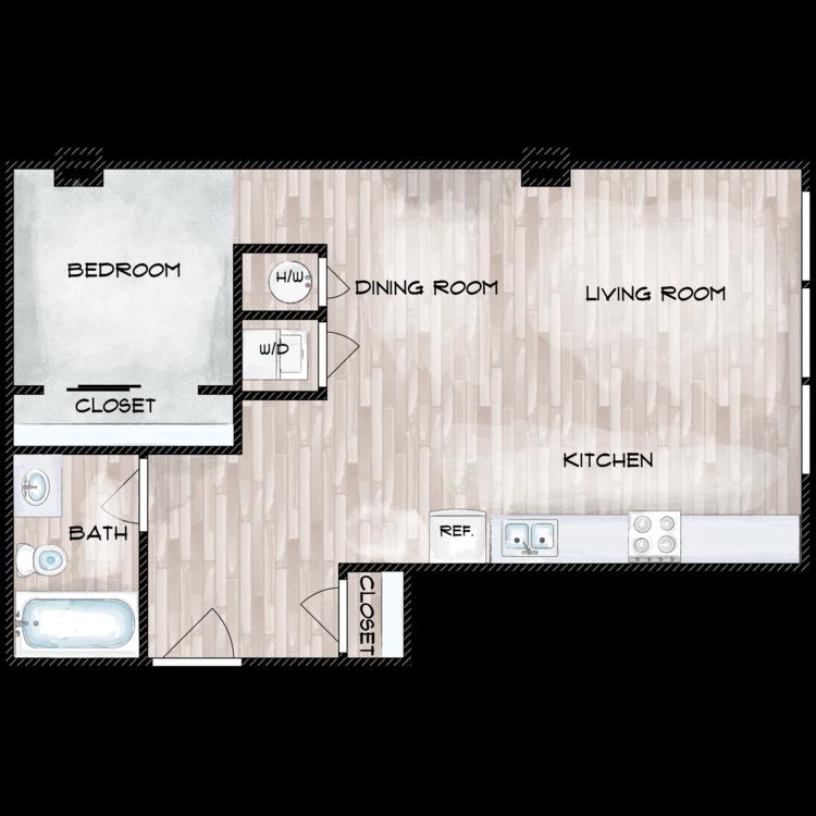 Floor plan image of Unit K