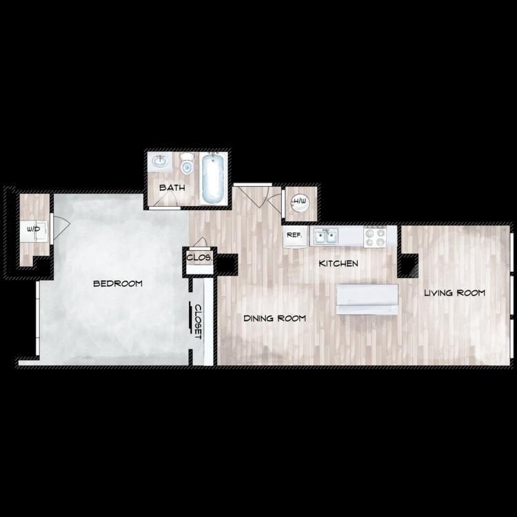 Floor plan image of Unit N