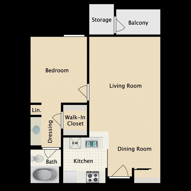 Floor plan image of Hudson