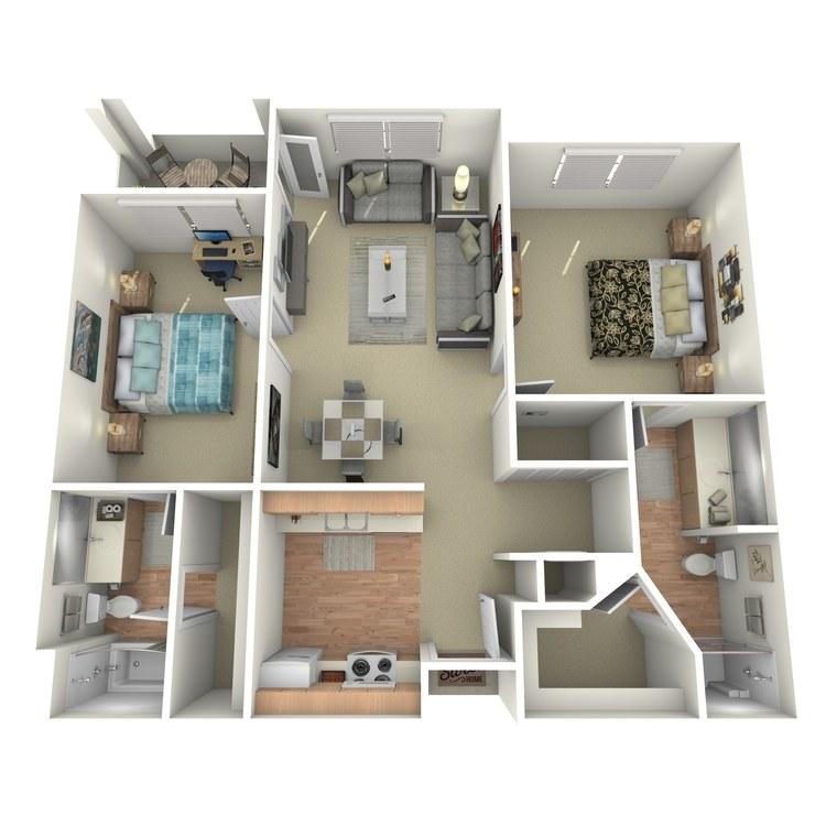 Floor plan image of San Gabriel