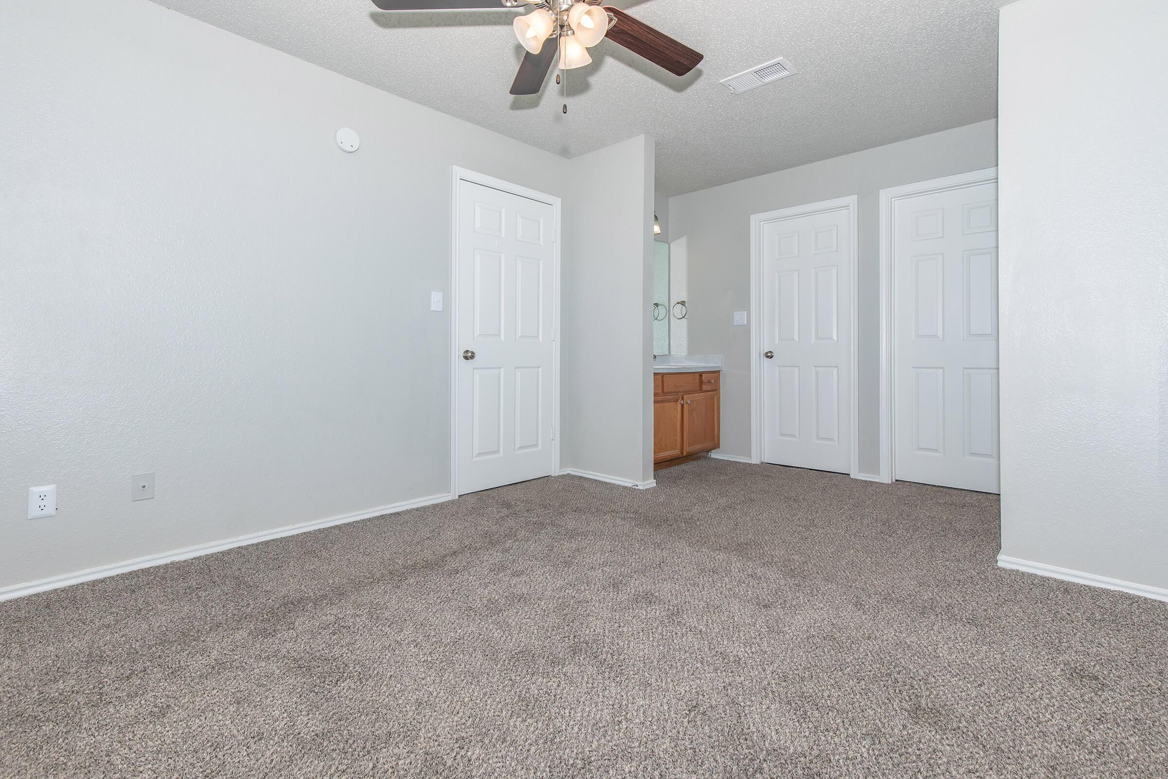 a double door in a room