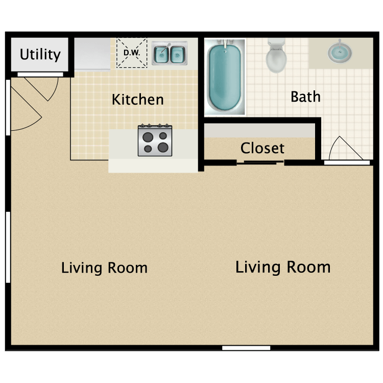 Floor plan image of Studio A