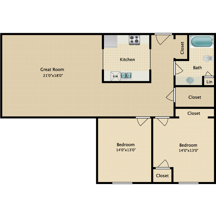 Floor plan image of The Kingsbury
