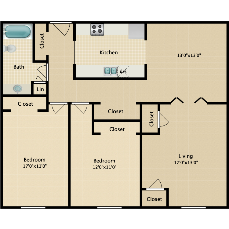 Floor plan image of The Waterford