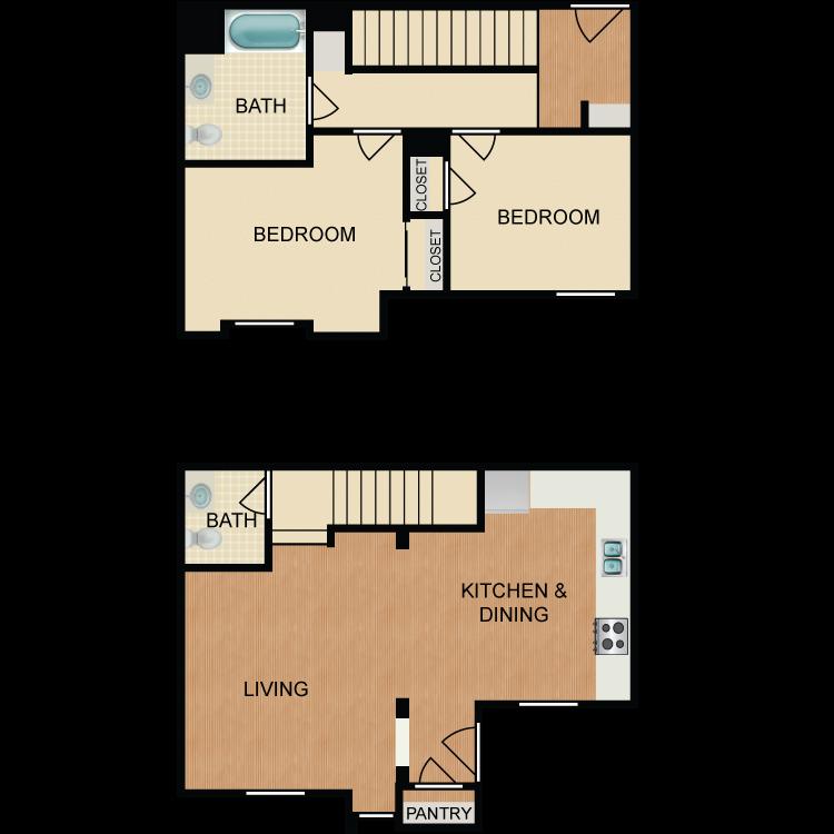 Floor plan image of B2 TH