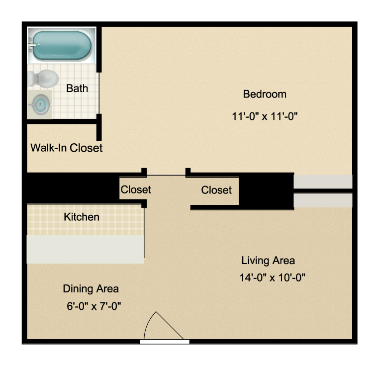 Floor plan image of 1/1