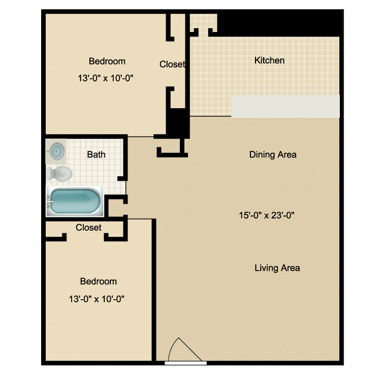 Floor plan image of 2/1