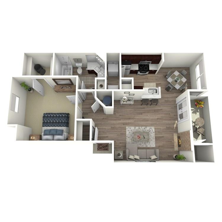 Floor plan image of Huckleberry