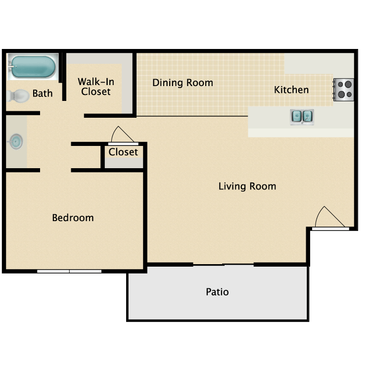 Floor plan image of The Irwin