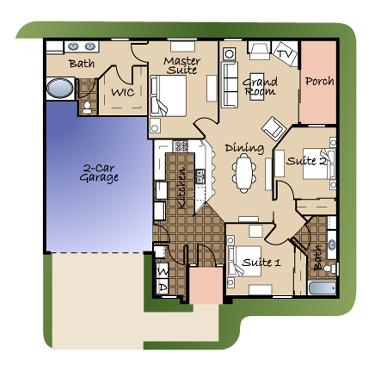 Floor plan image of Unit #4