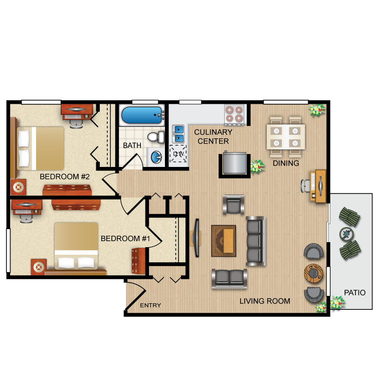 Floor plan image of The Ruby Corner