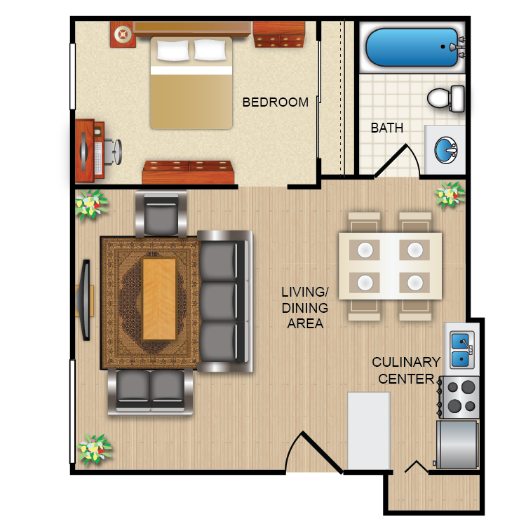 1 Bed Junior. Warren Wood Apartments   Availability  Floor Plans   Pricing