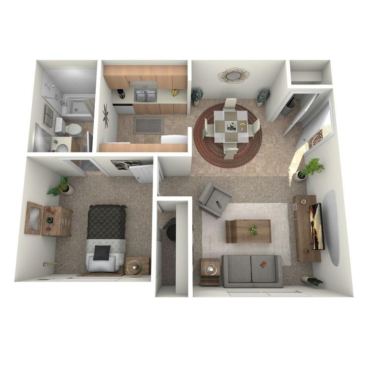 Floor plan image of Junior 1 Bed 1 Bath