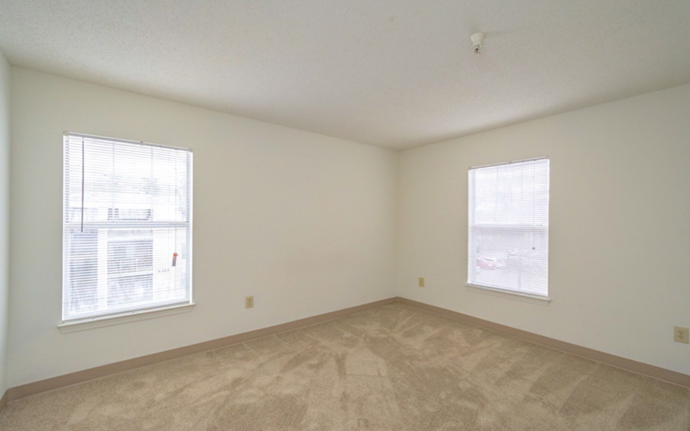 Large bedrooms with lots of windows