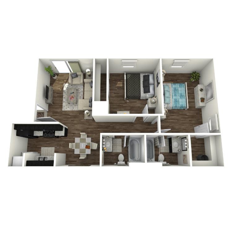 Floor plan image of B1-R