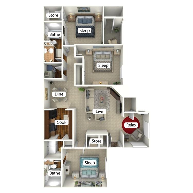 Floor plan image of Courtland