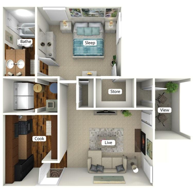 Floor plan image of Peachtree