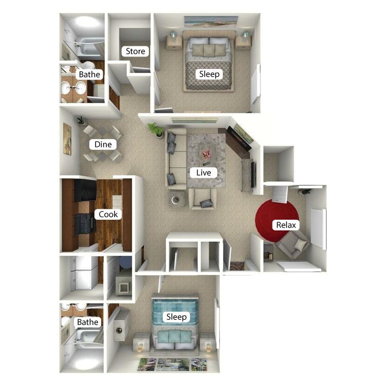 Floor plan image of Windward