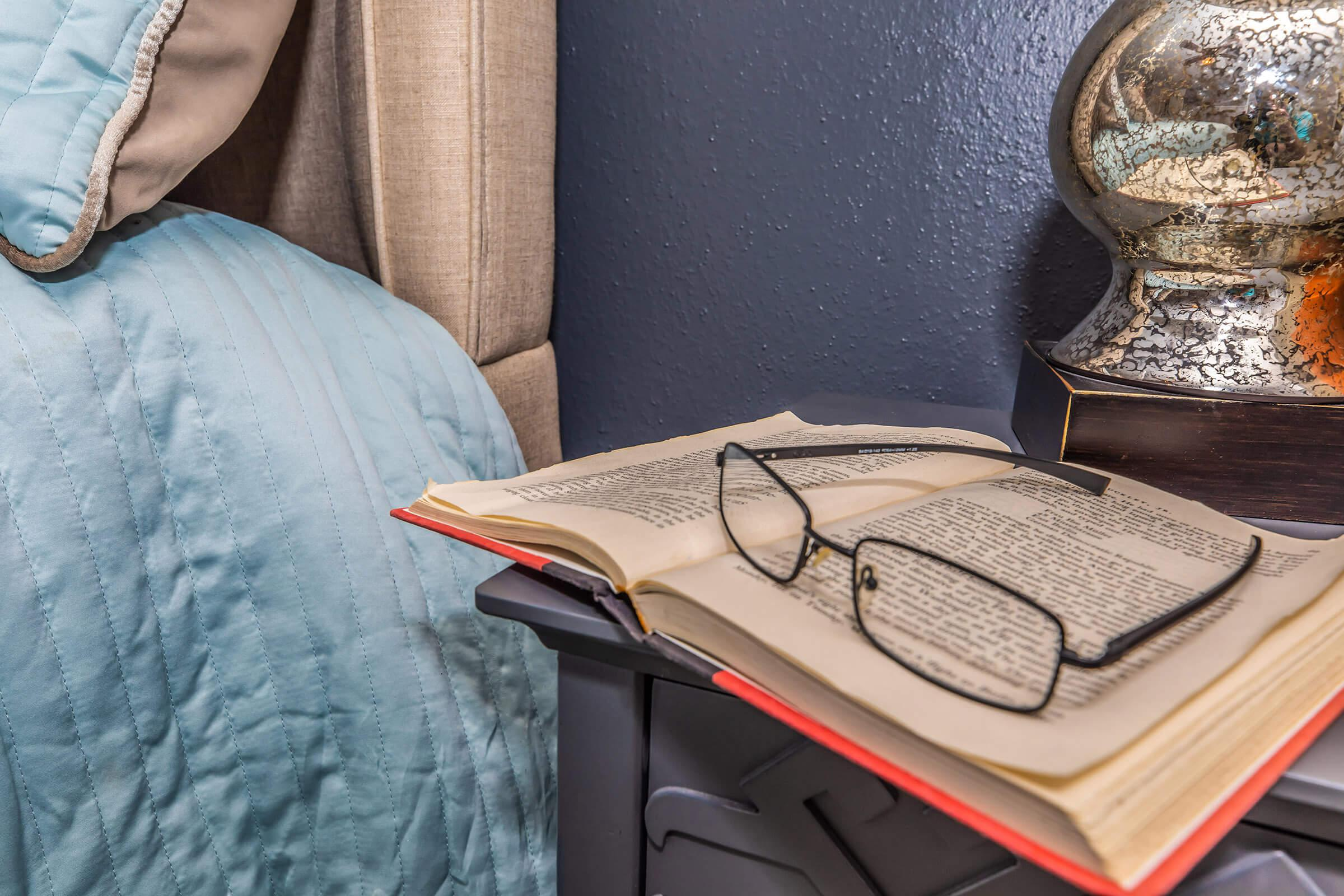 a laptop on a bed