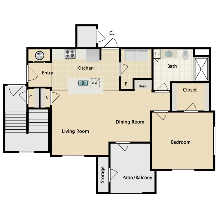 Floor plan image of Lucca