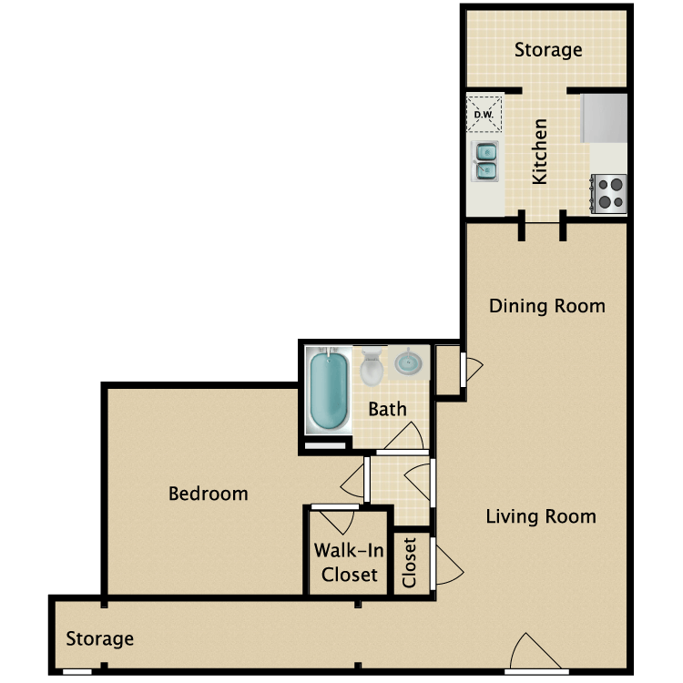 Floor plan image of The Delmar