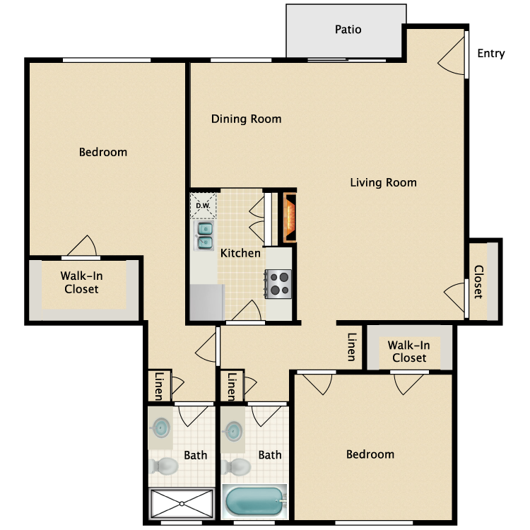 Floor plan image of Plan E