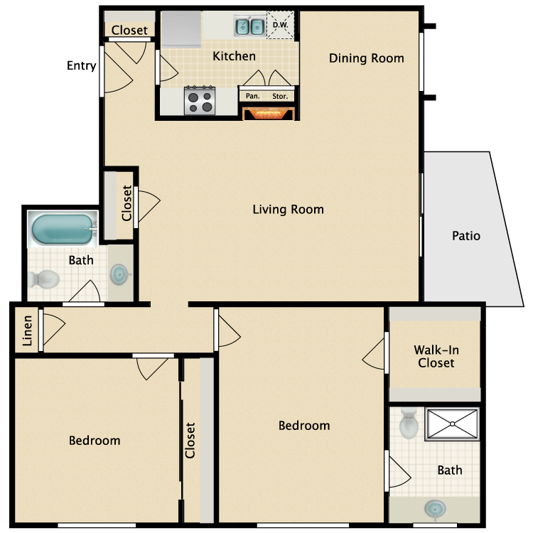 Floor plan image of Plan G