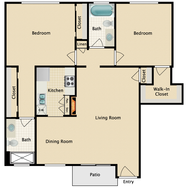 Floor plan image of Plan J