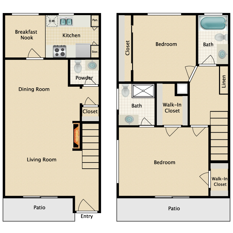 Floor plan image of Plan K