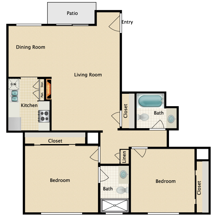 Floor plan image of Plan Q