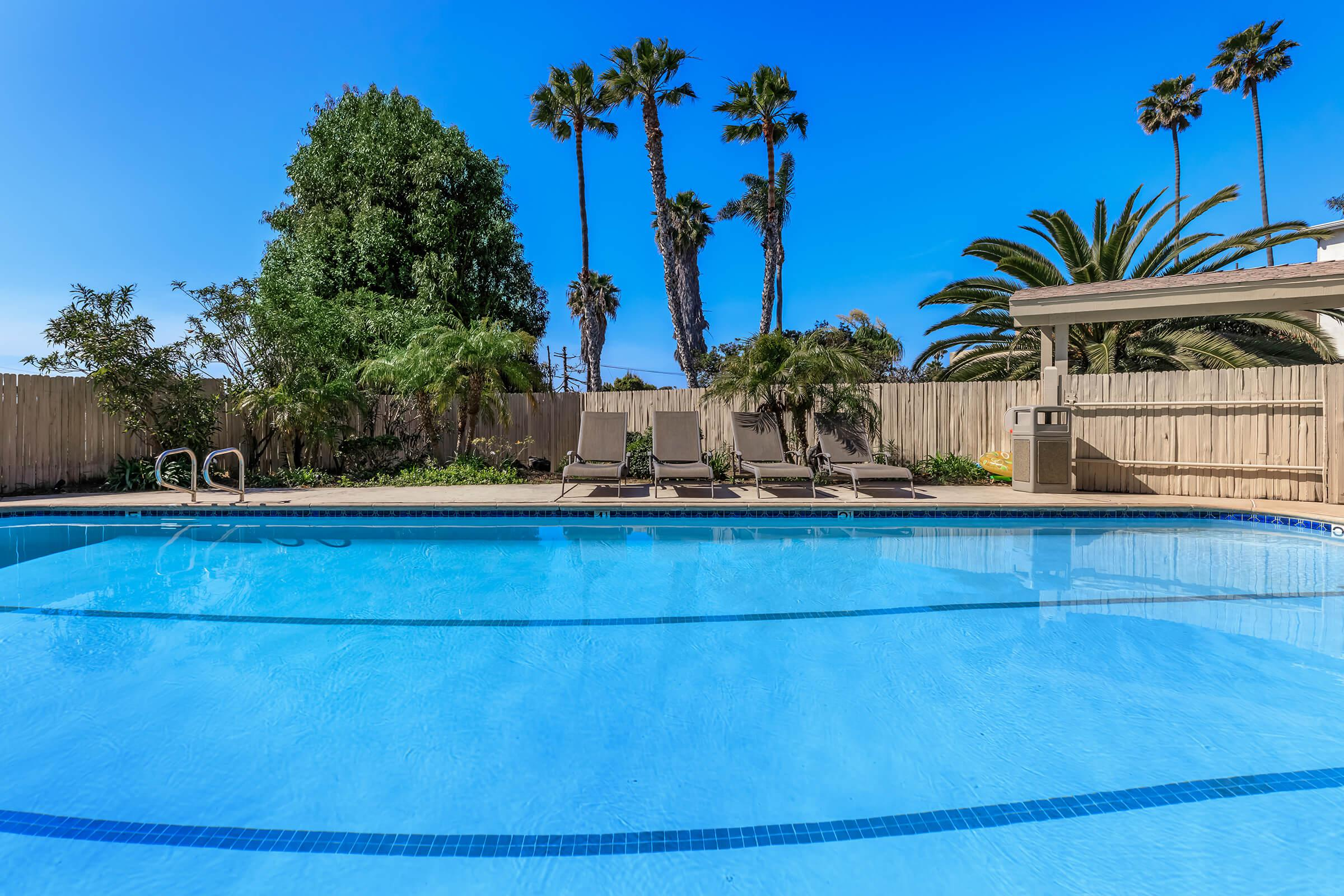 Relax poolside at Casa Del Sur in San Diego, California