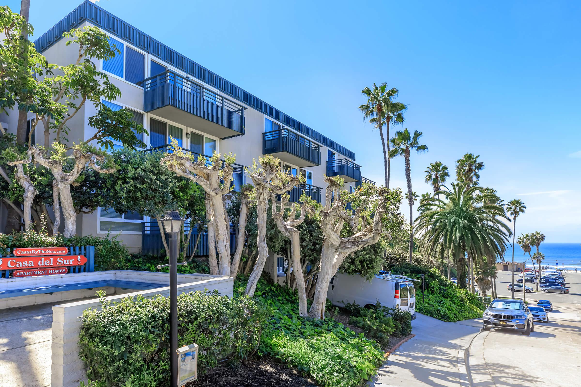 Walk to the beach at Casa Del Sur in San Diego, California