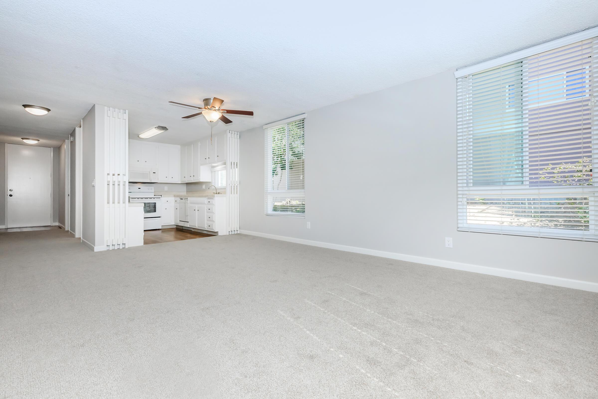 Open floor plans at Casa Del Sur in San Diego, CA
