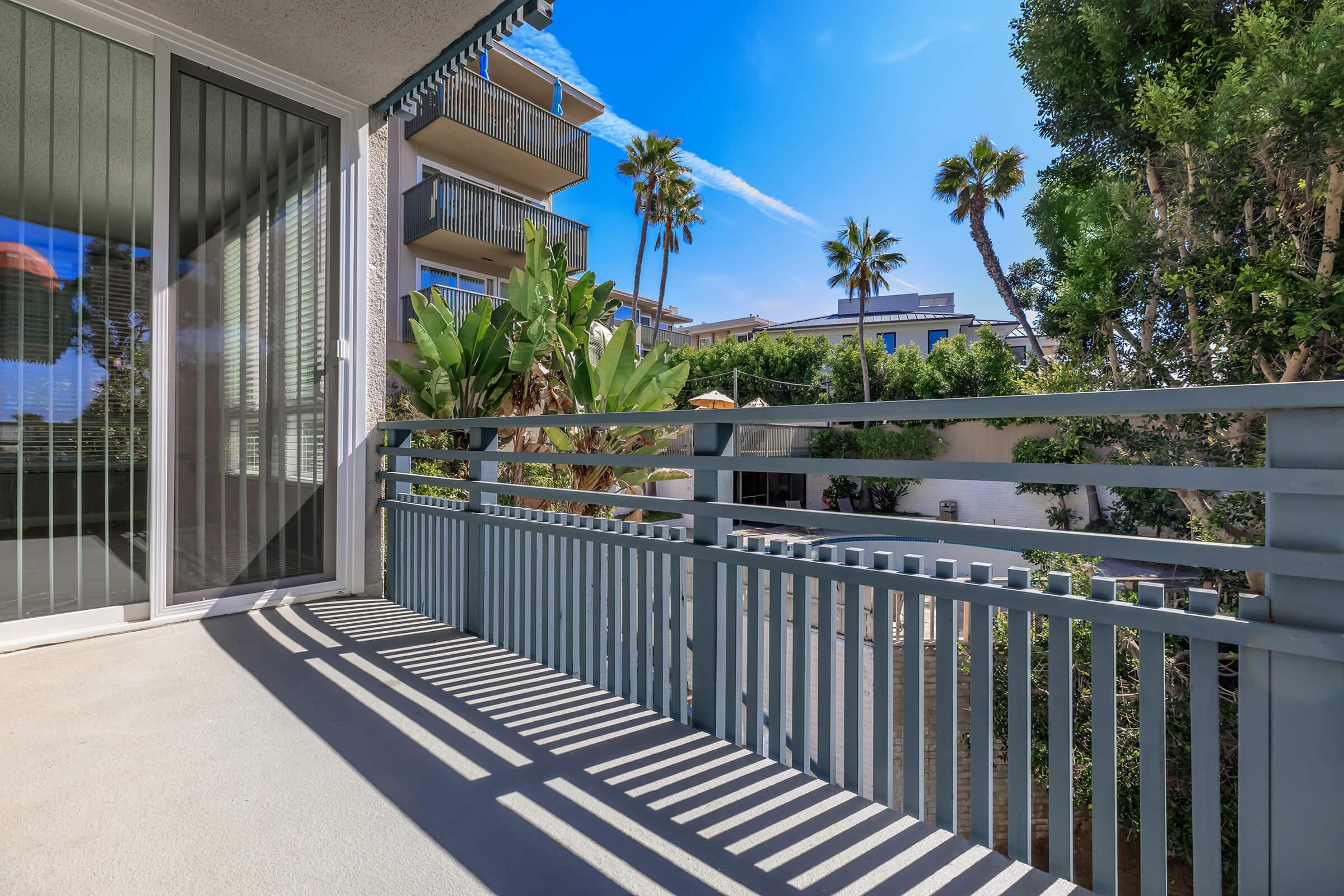 Personal balcony or patio at Casa Del Sur in San Diego, CA