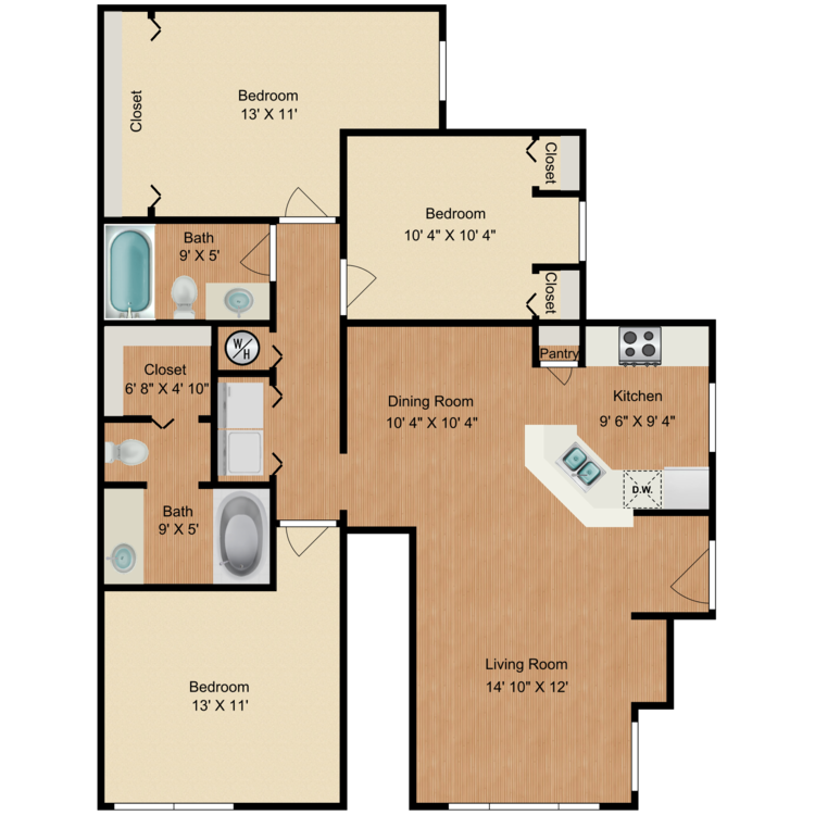 Floor plan image of The Patterson