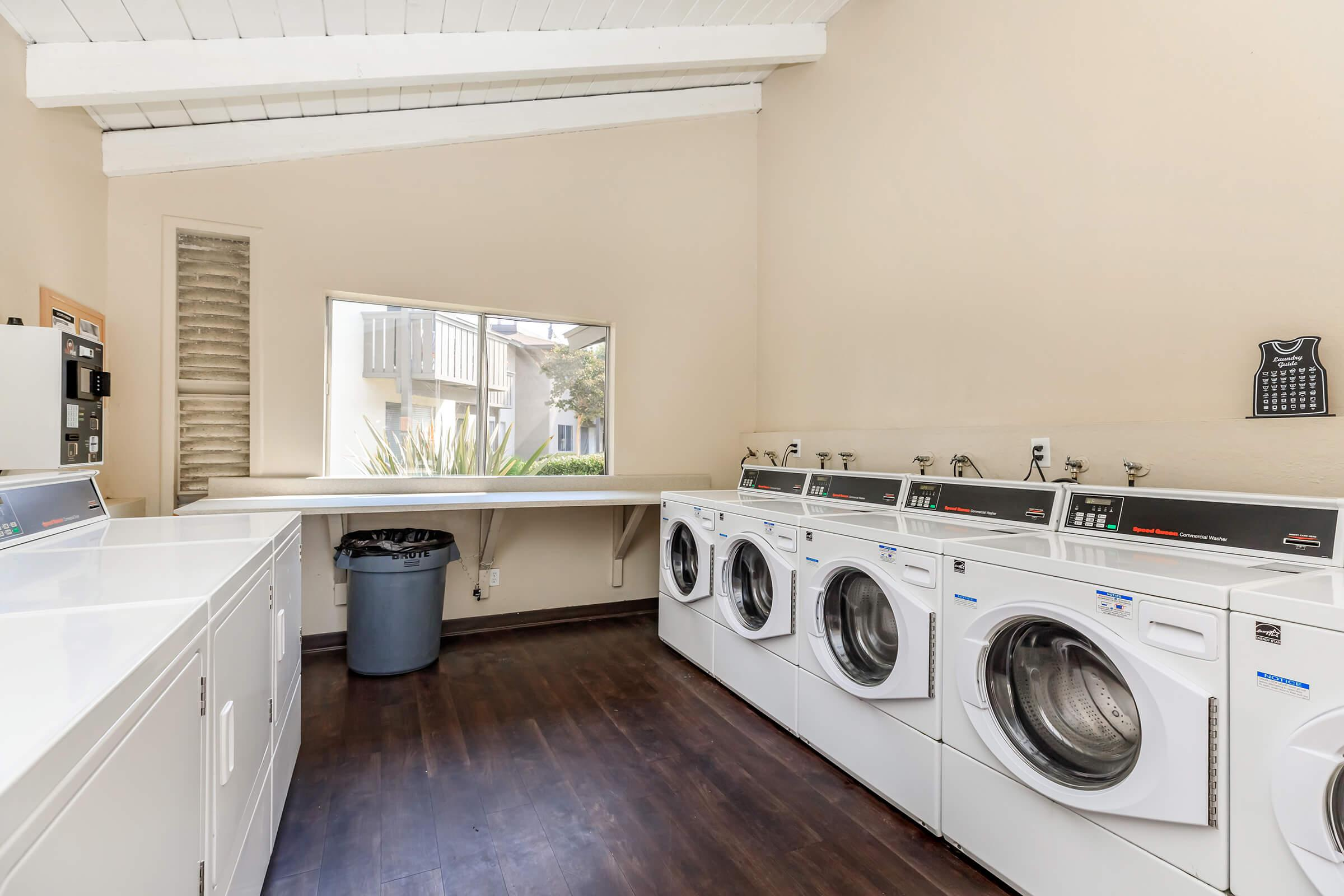 Washer and dryers in community laundry room