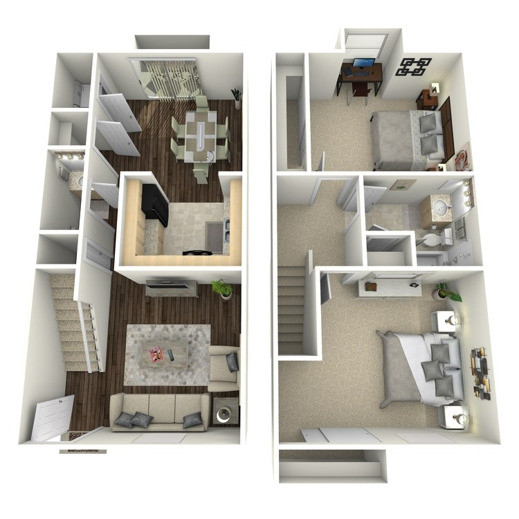 Floor plan image of Sunflower Townhome