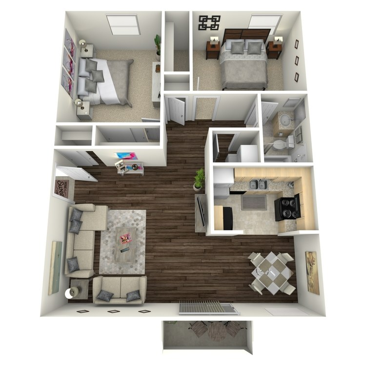 Floor plan image of Blue Bonnet I