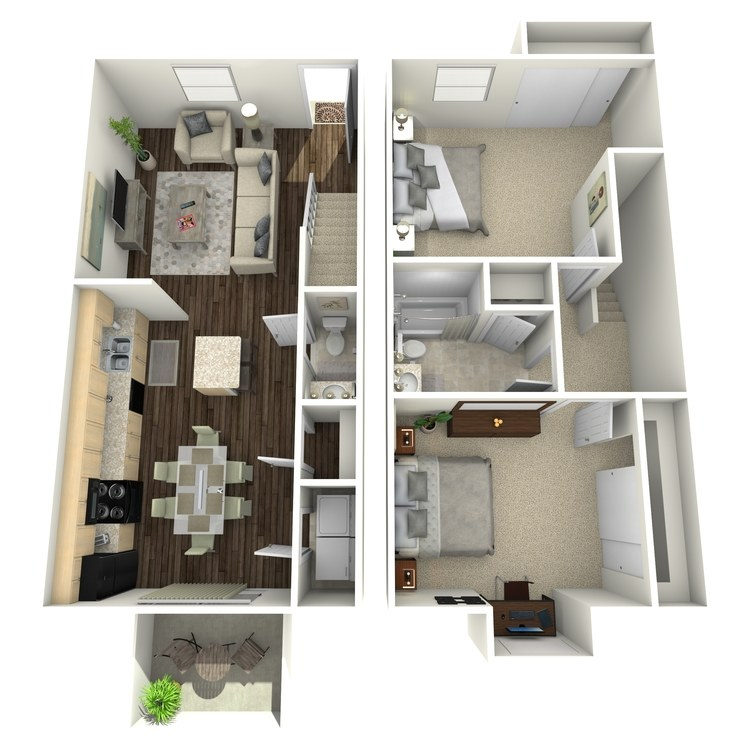 Floor plan image of Morning Glory Townhome