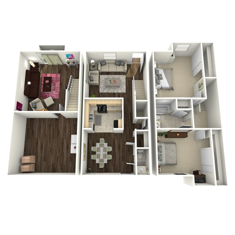 Floor plan image of Forget Me Not Townhome